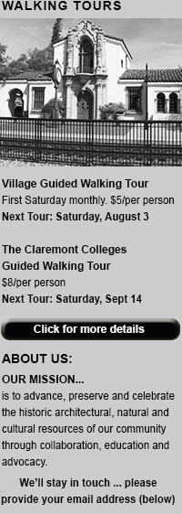 Claremont Walking Tours
