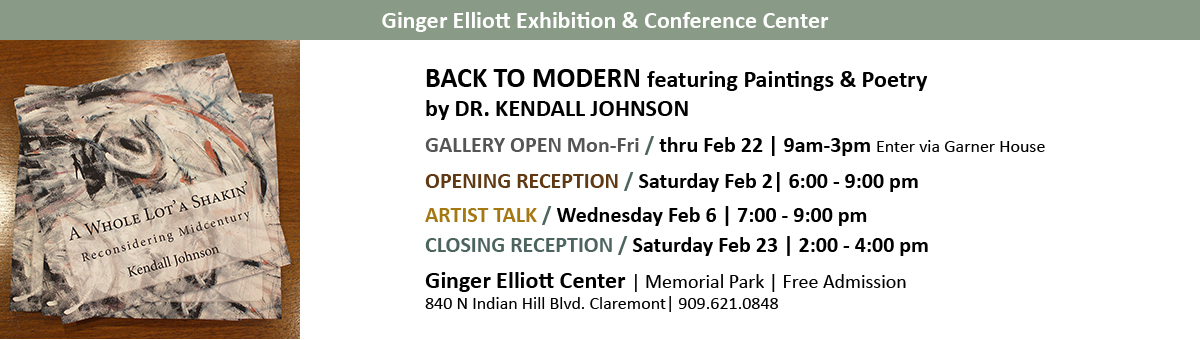 Back to Modern Exhibition by Dr. Kendall Johnson