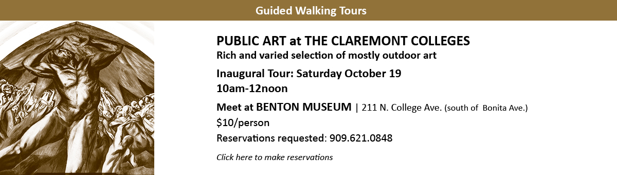 Art Walking Tour at The Claremont Colleges Oct 19 2019
