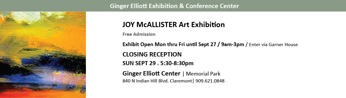 Joy McAllister Art Exhibition Sept 2019