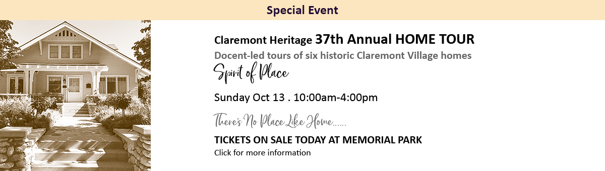 2019 Claremont Heritage Home Tour