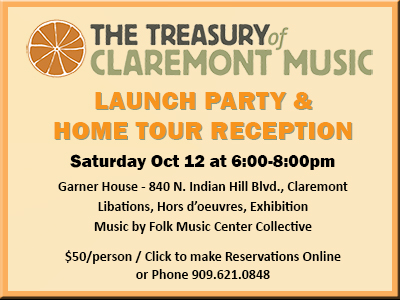 Treasury of Claremont Music Sat Oct 12