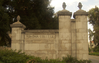 Pomona College gate photo