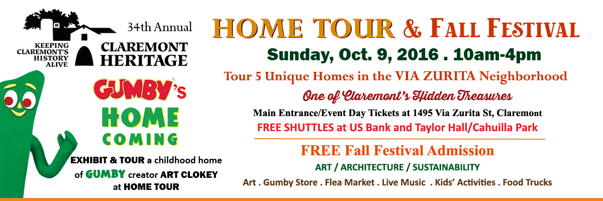 Claremont Heritage Home Tour & Fall Festival Gumby's Home Coming