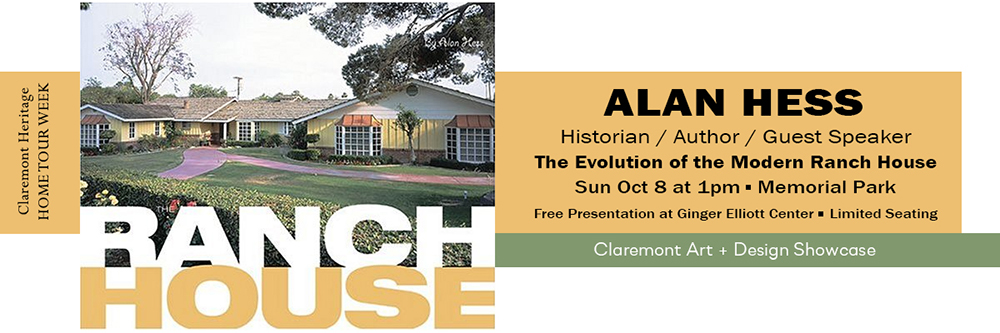 Alan Hess Ranch House presentation Oct 8 1pm